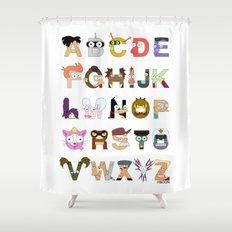 Futuralpha Shower Curtain