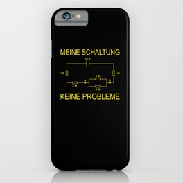 My Circuit No Problem Electrician Nerd iPhone Case