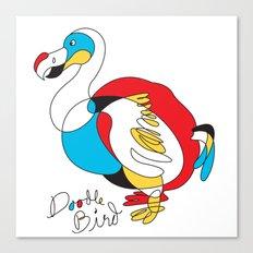 Doodle Bird Canvas Print