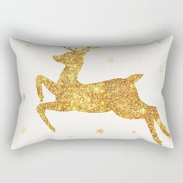 Golden Deer Rectangular Pillow