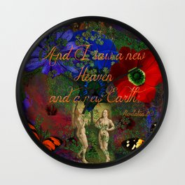 "Adam and Eve's Scriptured ""Earth"" Wall Clock"