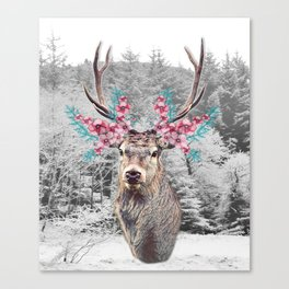 Fluttering Stag Canvas Print
