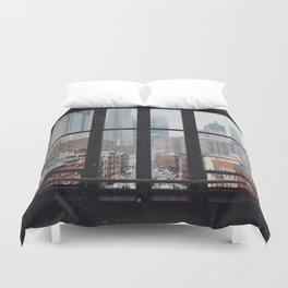 New York City Window Duvet Cover