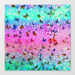 Glitter butterflies Canvas Print