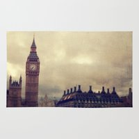 london Area & Throw Rugs featuring London by The Last Sparrow