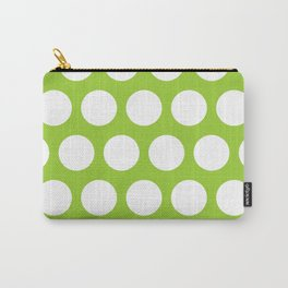 Big polka dots on yellow green Carry-All Pouch