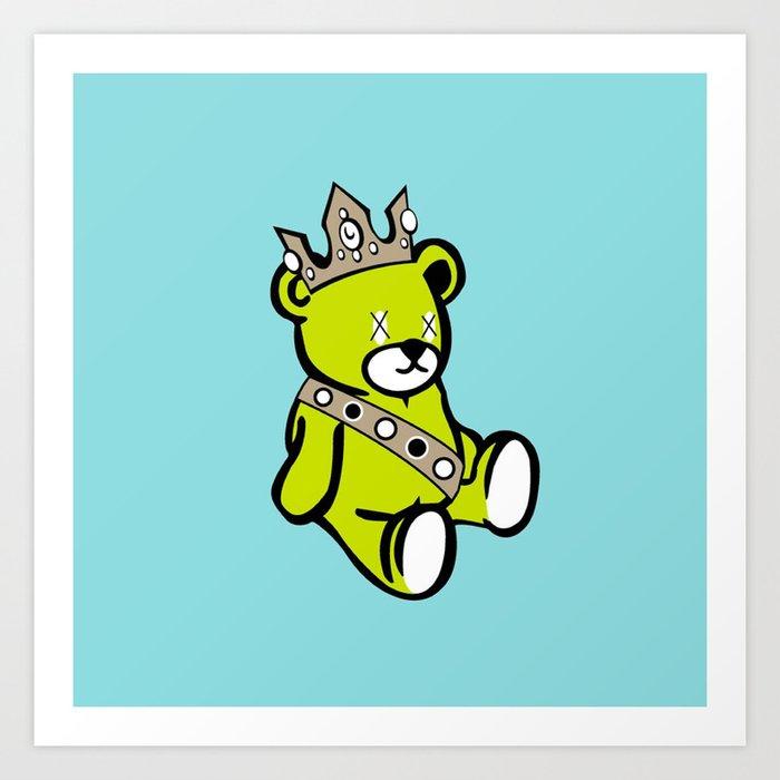 Bear King Art Print