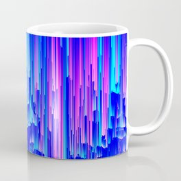 Neon Rain - A Digital Abstract Coffee Mug