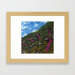 Foxglove Hedgerow Framed Art Print