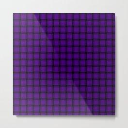 Small Indigo Violet Weave Metal Print