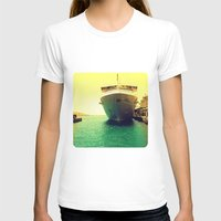 boat T-shirts featuring Boat by chauloom
