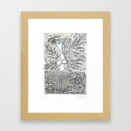 Sculpture in Garden Framed Art Print