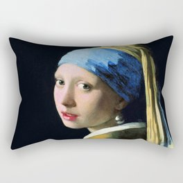 Jan Vermeer Girl With A Pearl Earring Baroque Art Rectangular Pillow