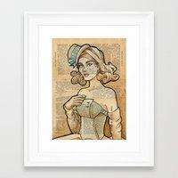 hallion Framed Art Prints featuring Iron Woman 7 by Karen Hallion Illustrations