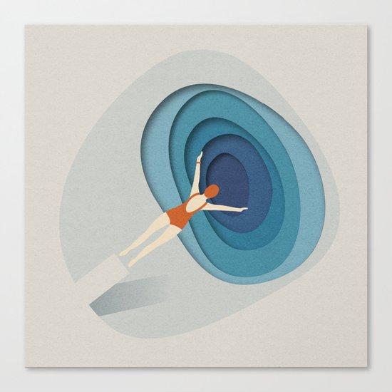 Dive Into Blue Canvas Print