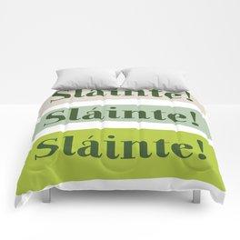 Slainte! Irish Good Health Toast in Green Comforters