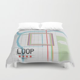 Chicago's Loop Duvet Cover