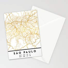 SAO PAULO CITY STREET MAP ART Stationery Cards