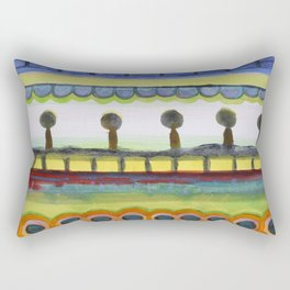 The Seaside Promenade Rectangular Pillow