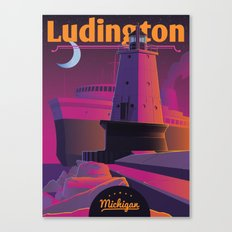 Ludington & the S.S. Badger Canvas Print