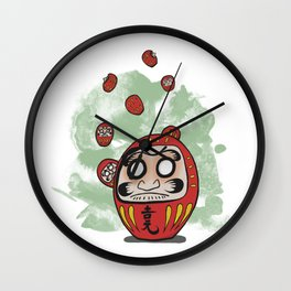 Daruma Doll Cartoon Wall Clock