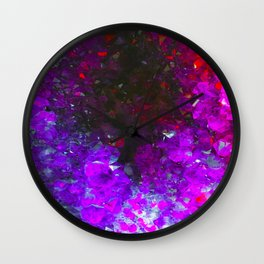 Fiery Amethyst #society6 Wall Clock