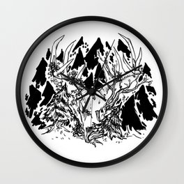 old gods forest Wall Clock