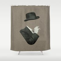 smoke Shower Curtains featuring Smoke by Lerson
