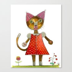 Strawberry Kitty Cat Canvas Print