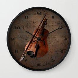 Painting Vintage Violin Wall Clock