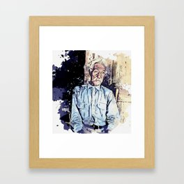 Bob Lemmons Carrizo Springs, Texas Born a slave about 1850 Original by Dorothea Lange watercolor by Framed Art Print