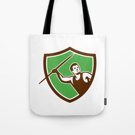 Javelin Throw Track and Field Athlete Shield Tote Bag