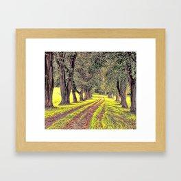 Green Avenue Airbrush Artwork Framed Art Print