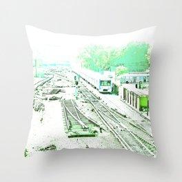 Train oblivion. Throw Pillow