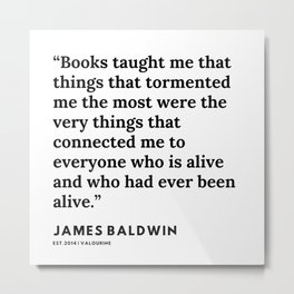 83      James Baldwin Quotes    200626   Black Writers   Motivation Quotes For Life Metal Print