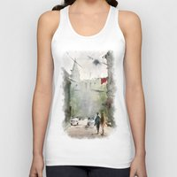 street art Tank Tops featuring Street by Baris erdem