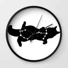 scorpio cat Wall Clock