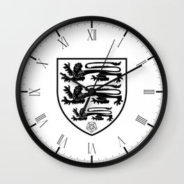 British Three Lions Crest Wall Clock