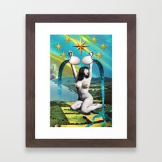 Divination Tarot: Star Framed Art Print