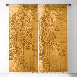 Sherlock - Gold Blackout Curtain