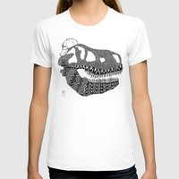 t rex T-shirts featuring T-rex by Surfing Shaman