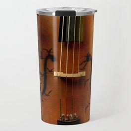 Cello bird music Travel Mug