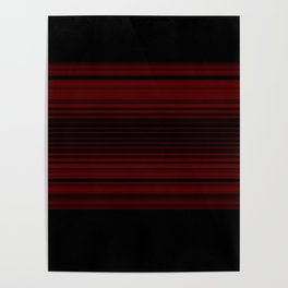 Bold Ruby Red Stripes Design Poster
