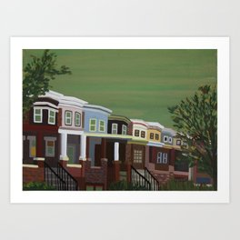 Shaded Dwellings Art Print
