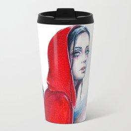What big eyes you have - ink illustration Travel Mug