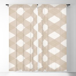 Pantone Hazelnut, Tan Argyle Plaid, Diamond Pattern Blackout Curtain