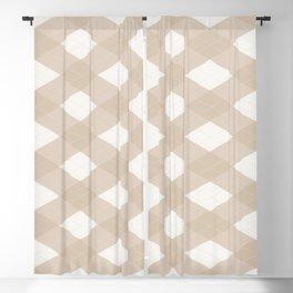 Pantone Hazelnut, Tan Argyle Plaid, Diamond Pattern Blackout Curtain