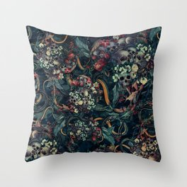 Skulls and Snakes Throw Pillow