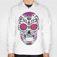 sugar skull Hoodies featuring Sugar Skull by Laura Maxwell
