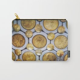 gold coins collectibles background copy space texture with grainy and vintage vignette effect Carry-All Pouch